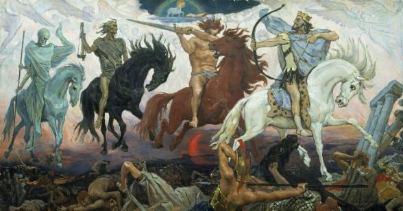 Os Quatro Cavaleiros do Apocalipse, por Victor Mikhailovich Vasnetsov.