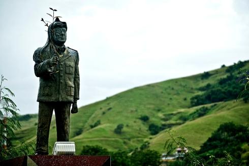 Monumento a Yasser Arafat na Paraíba do Sul. Foto: Diadorim Ideias/Isabela Kassow.