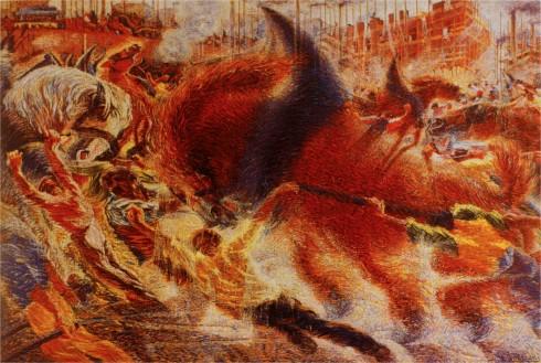 Futurismo - Umberto Boccioni - La  città che sale (1910).
