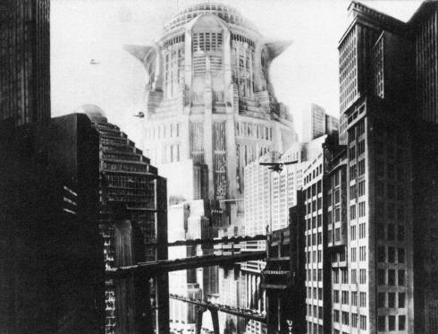 Maquetes da Cidade dos Filhos com a Torre de Babel desenhada ao fundo.