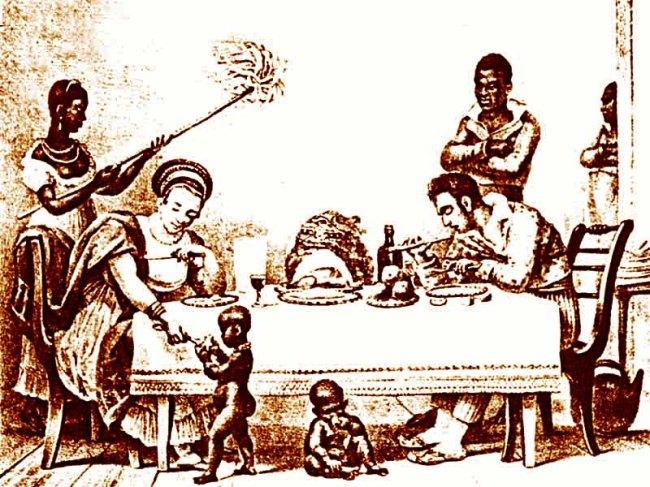 Família brasileira, por Jean Baptiste Debret.